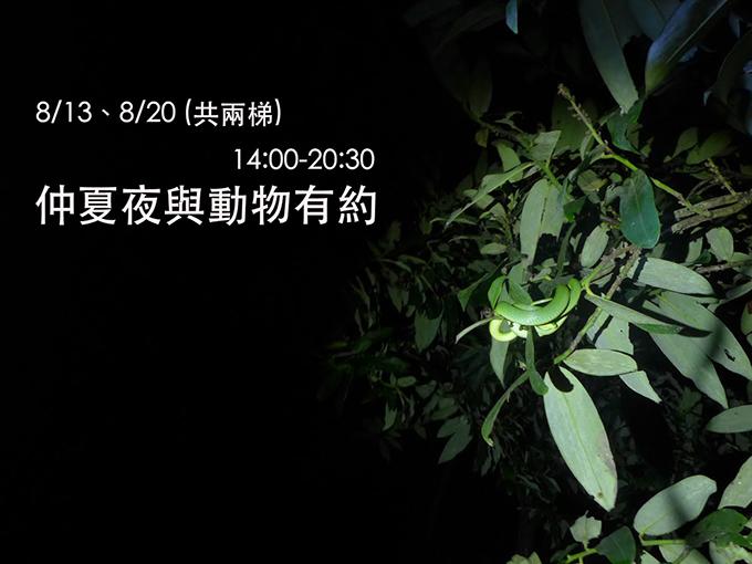 內雙溪自然中心:仲夏夜與動物有約